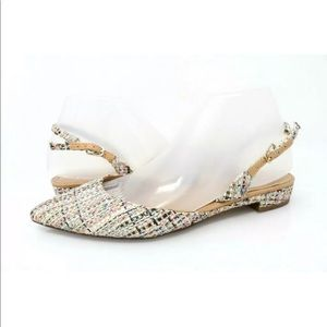 Banana Republic Slingback Flat Shoes Pumps Plaid
